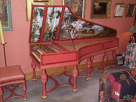 DOUBLE MANUAL HARPSICHORD AFTER CHRISTIAN ZELL